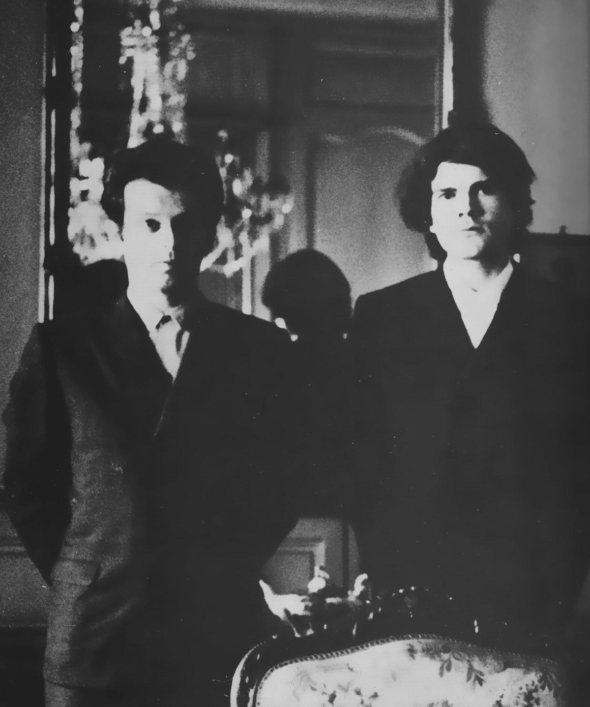 Alejandro Jodorowsky et Alain Le Yaouanc à Rouen en 1964. Photo: Catherine Harlé. © Alain Le Yaouanc