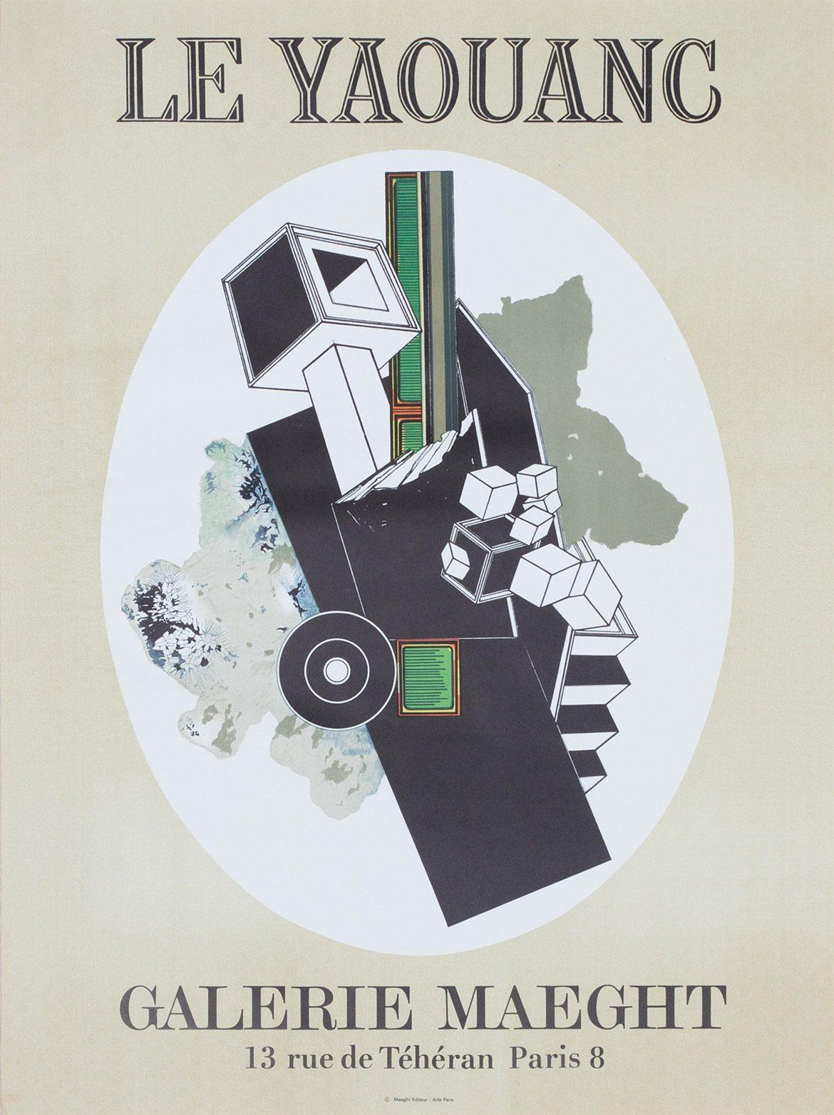 Affiche n°111, Galerie Maeght, exposition de février 1969. Photo: Luc Delaborde. ©  Le Yaouanc