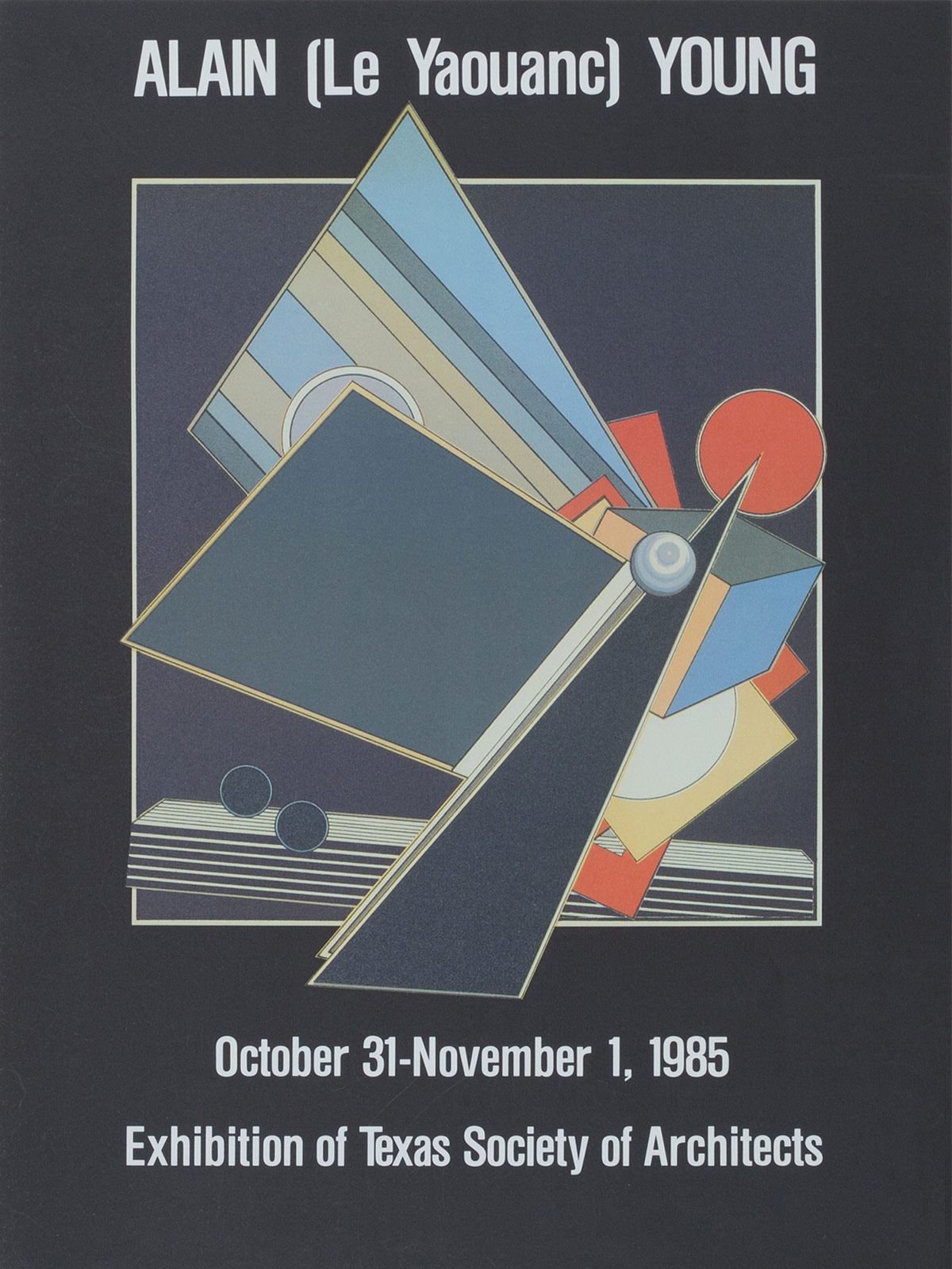 Exposition à la Texas Society of Architects, à Dallas, les 31 octobre et 1er novembre 1985. Archives Le Yaouanc. Photo: Luc Delaborde