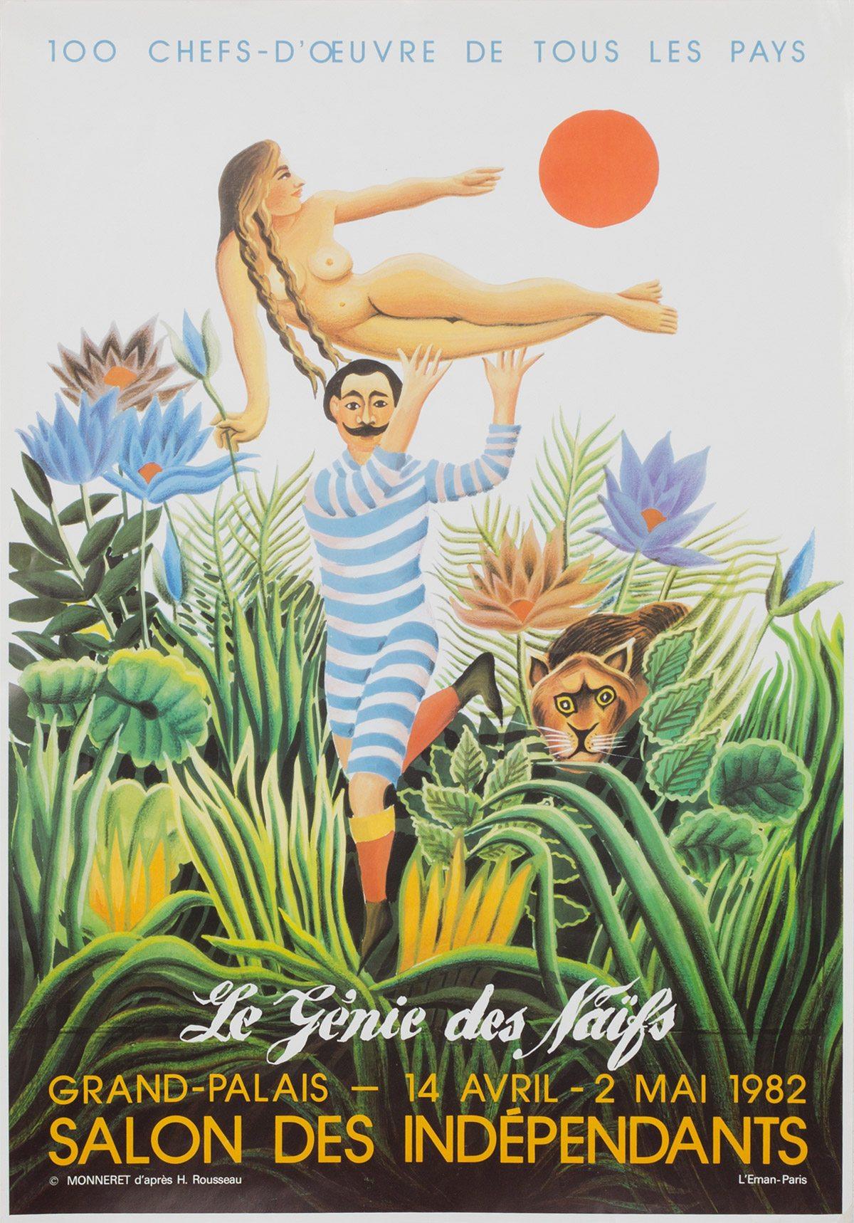 Affiche du 93ème salon des indépendants, 1982. Archives Le Yaouanc. Photo: Luc Delaborde