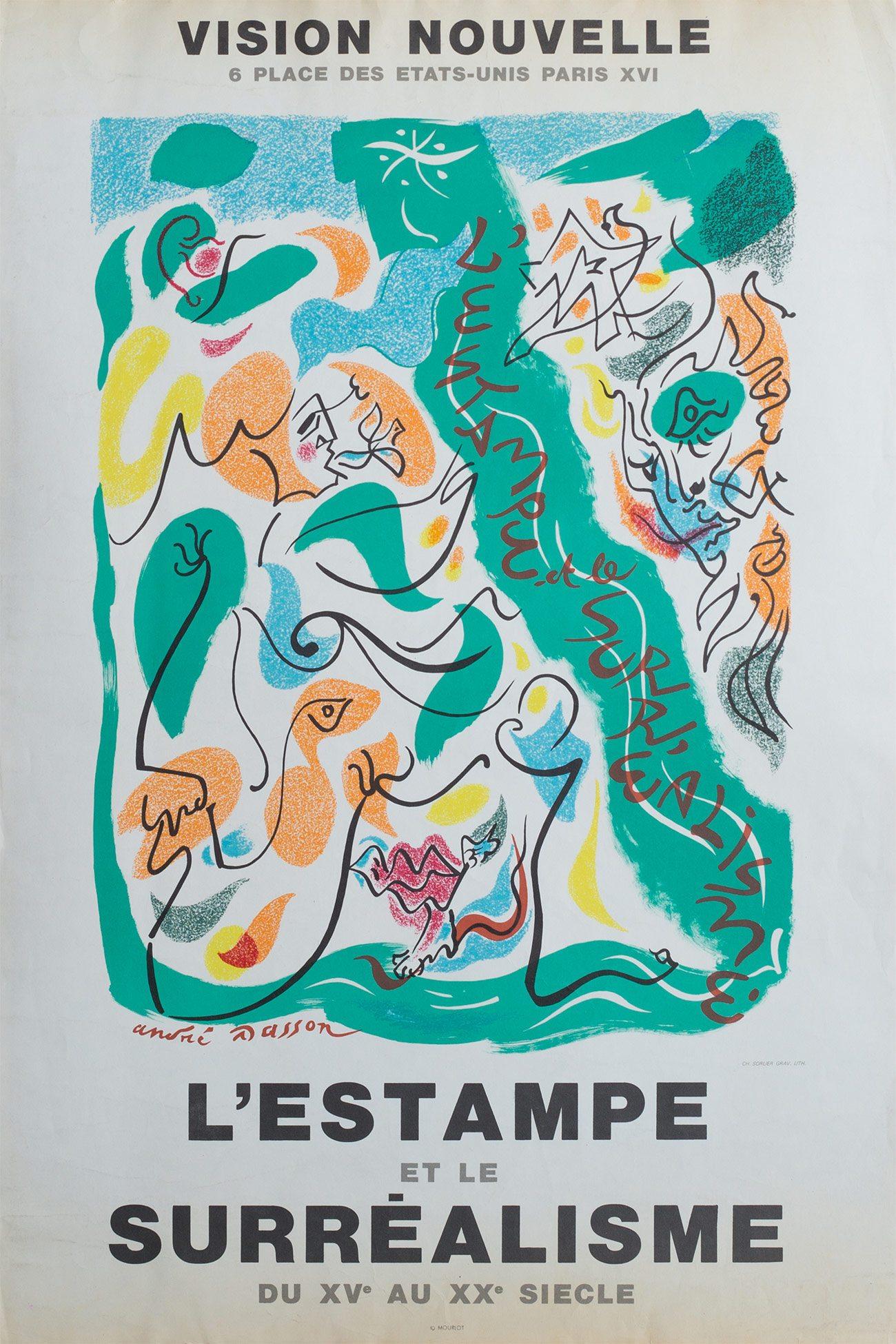 """Exposition""""L'estampe et le surréalisme"""", galerie Vision Nouvelle, 1972. Archives Le Yaouanc. Photo: Luc Delaborde"""