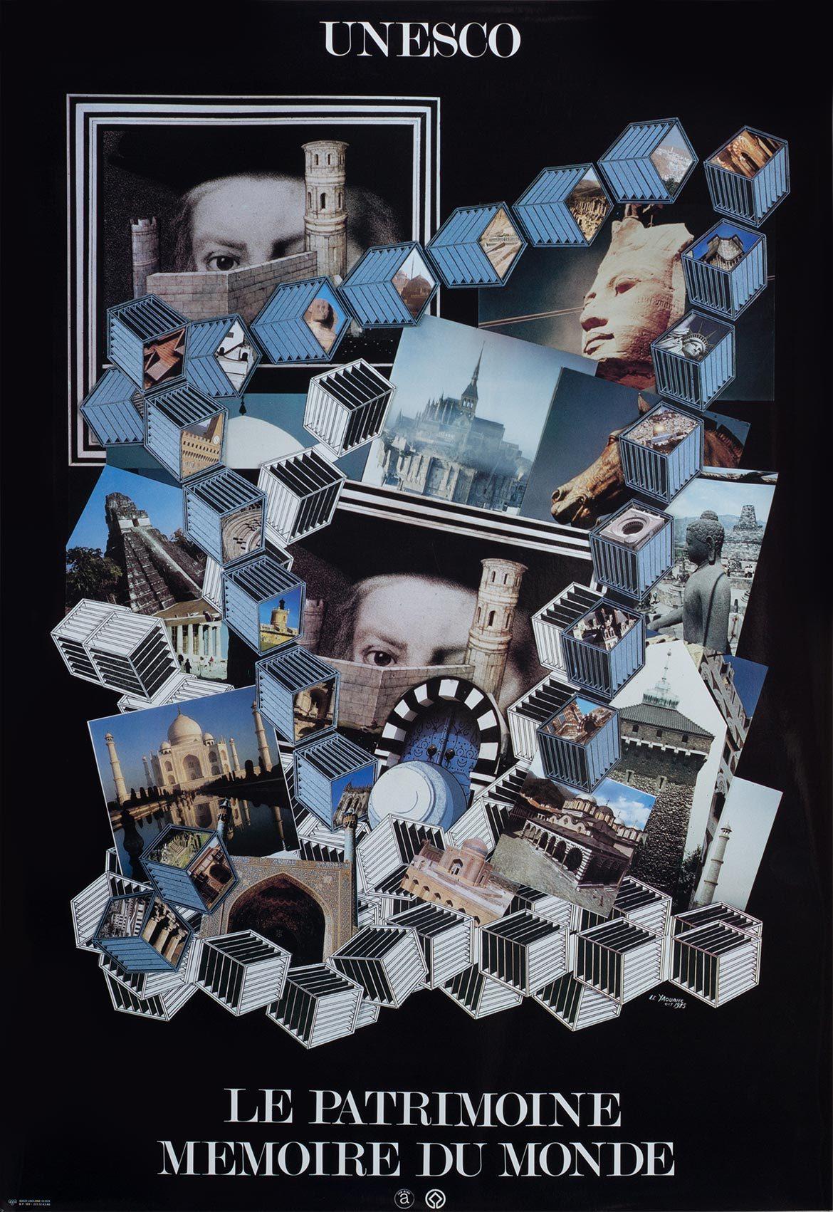 """Affiche""""Mémoires des Rues, mémoire du Monde"""", UNESCO, 1985"""