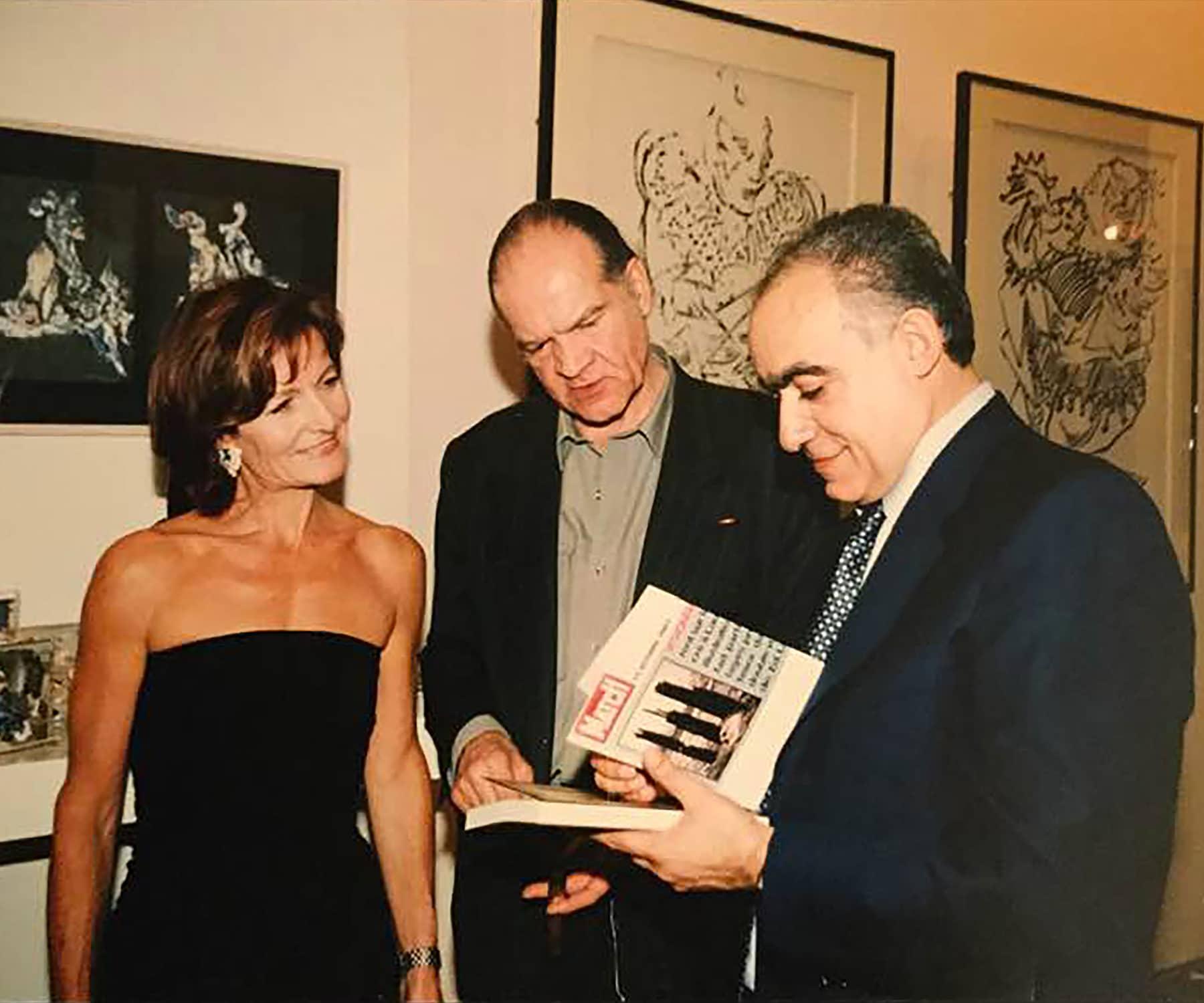 Anne Galand, Alain Le Yaouanc et Ghassan Salamé en 2001 à Beyrouth. Archives Anne Galland