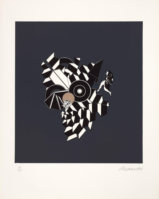 Interférence, lithographie tirée de l'album 1101, Maeght éditeur, 1970