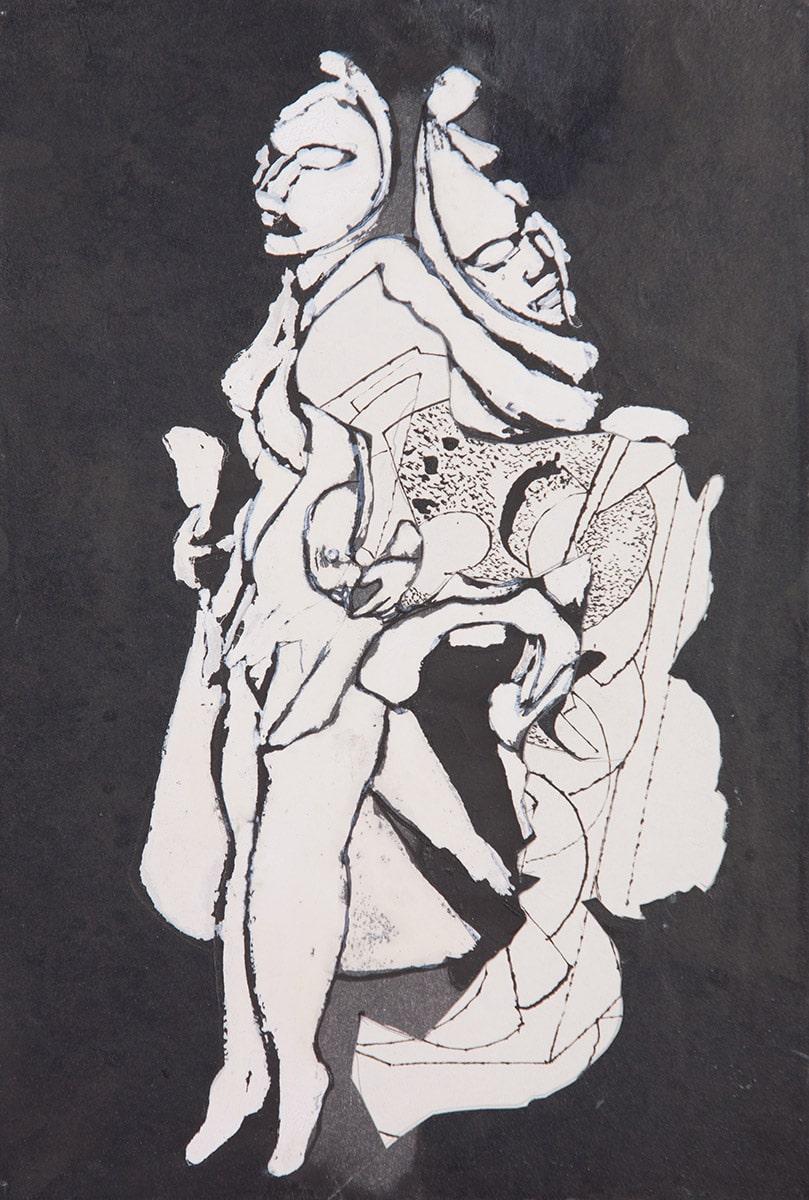 Sans-titre, dessin à l'encre de Chine.Coll. Privée, Paris. Photo: Allen Le Yaouanc